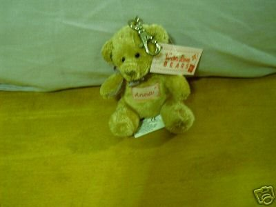 Russ Berrie With Love Bears Clip On - Personalized - Anna  FREE USA SHIPPING!