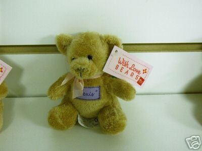 Russ Berrie With Love Bears Clip On - Personalized - Alexis  FREE USA SHIPPING!