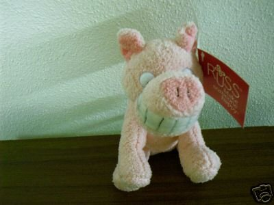 Russ Berrie Luv Pets - Grinnies - Plush Pig  FREE USA SHIPPING