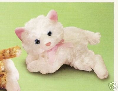 Russ Berrie Paws for Thought - White Cheshire Kitty Cat FREE USA SHIPPING!
