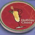 Russ Berrie Christmas Wine Cellar - Wine Glass Coaster - Holiday Cheer  FREE USA SHIPPING!!