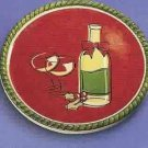 Russ Berrie Christmas Wine Cellar - Wine Bottle Coaster - Holiday Cheer  FREE USA SHIPPING!