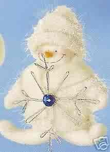 Russ Berrie Christmas Ornament - Winter Snowman Holding Snowflake FREE USA SHIPPING