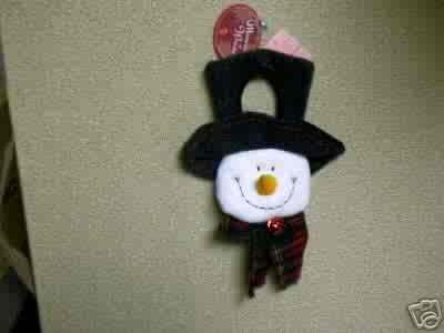 Russ Berrie Christmas - Moments of Wonder Snowman Face Door Hanger FREE USA SHIPPING