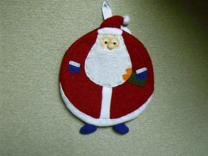 Russ Berrie Christmas - Moments of Wonder Santa Round Hot Pad  FREE USA SHIPPING