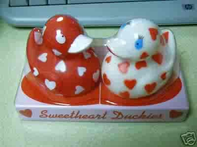 Set of 2 Sweetheart Rubber Duckies  FREE USA SHIPPING!