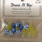 Dress It Up Bead Collection #8 - Blue & Yellow Floral - Fimo FREE USA SHIPPING!
