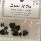 Dress it Up Bead Collection #30 - Hematite Hearts & Stars FREE USA SHIPPING!