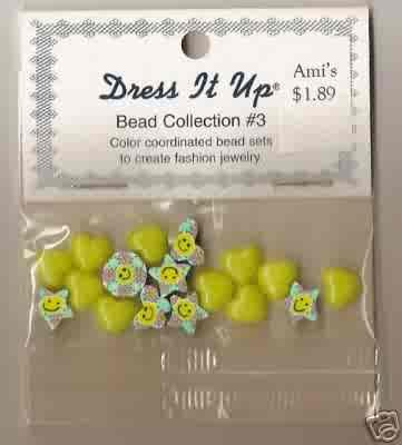 Dress it Up Bead Collection #3 - Smiley Faces and Hearts - Acrylic FREE USA SHIPPING!!!
