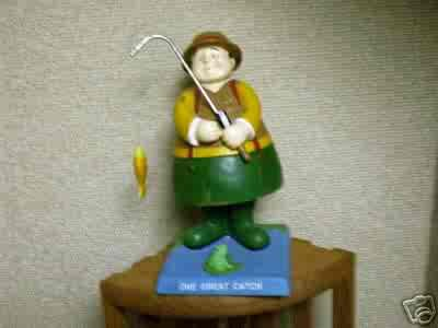 Russ Berrie Bobble Guyz - One Great Catch Fishing - Bobble Bods  FREE USA SHIPPING!!