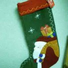 Russ Berrie Christmas - Moments of Wonder Felt Santa Stocking FREE USA SHIPPING!