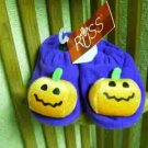 Russ Berrie Halloween Warm & Toasty Baby Booties - Purple - FREE USA/CANADA SHIPPING!