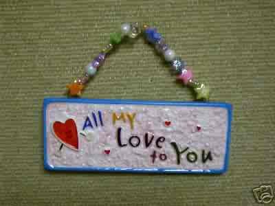 Skribbles Collection Ceramic Plaque - All My Love to You - by Russ Berrie