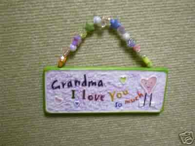 Skribbles Collection Ceramic Plaque - Grandma, I Love You So Much - by Russ Berrie