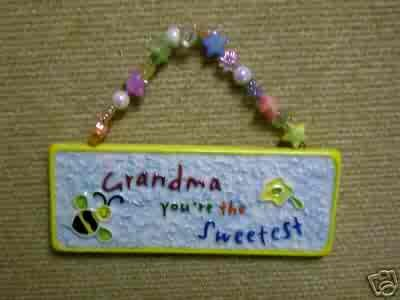 Skribbles Collection Ceramic Plaque - Grandma You're the Sweetest - by Russ Berrie