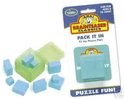Aha! Pack It In Brainteaser Puzzle by Thinkfun  - FREE USA SHIPPING!