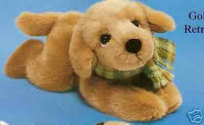 Russ Berrie Wags to Whiskers - Floppy Golden Retriever Puppy SOLD OUT!!!!