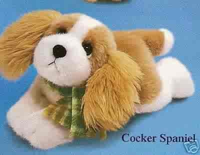Russ Berrie Wags to Whiskers - Floppy Cocker Spaniel Puppy FREE USA SHIPPING