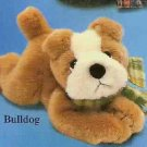 Russ Berrie Wags to Whiskers  - Floppy Bulldog Puppy FREE USA SHIPPING
