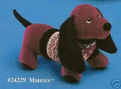 Russ Berrie Debonair Dogs Collection - Maurice Dachshund Small