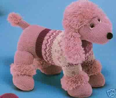 Russ Berrie Debonair Dogs Collection - Lucille Pink Poodle Large