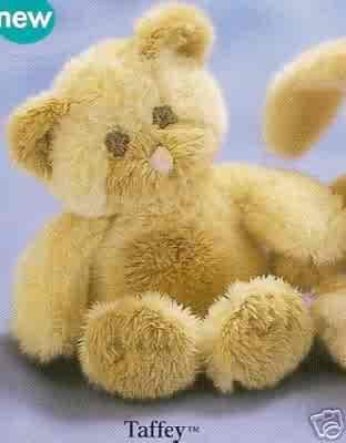 Russ Berrie Baby Collection - Taffey Patchwork Teddy Bear Mini Squeaker FREE USA SHIPPING!