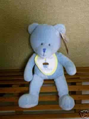 Russ Berrie Baby Collection - First Birthday Bear - Blue FREE USA SHIPPING!