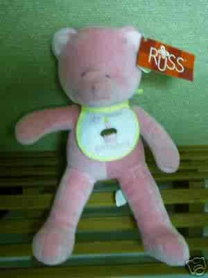Russ Berrie Baby Collection - First Birthday Bear - Pink  FREE USA SHIPPING!