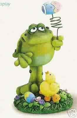 Russ Toadily Yours Easter Collection - Frog with Chick - Doug Harris FREE USA SHIPPING