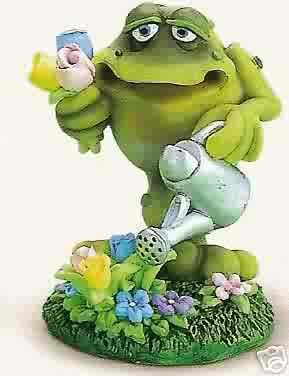 Russ Toadily Yours Easter Collection - Frog with Spring Flowers - Doug Harris FREE USA SHIPPING!!!