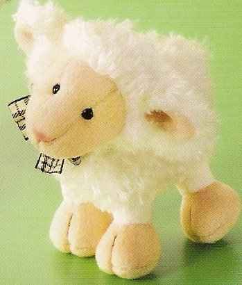 Russ Berrie Easter Collection - Woolsen Small White Lamb  FREE USA SHIPPING!