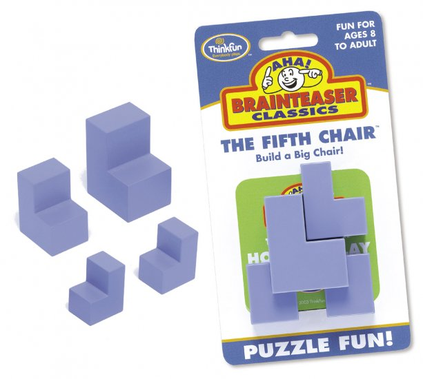 Aha! Classics Brainteaser Fifth Chair by Thinkfun FREE USA SHIPPING!