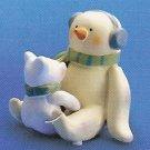 Russ Peace in the Meadow Small Figurine - Earmuff Snowman with Polar Bear - FREE USA SHIPPING!!