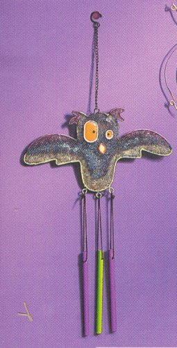 Russ Halloween Happy Hauntings Metal Mesh Windchimes - Owl FREE USA SHIPPING!!!