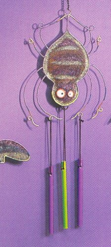 Russ Halloween Happy Hauntings Metal Mesh Windchime - Spider FREE USA SHIPPING!
