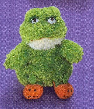 Russ Berrie Halloween Plush Pumpkin Slipper Pals - Frog LIQUIDATION CLEARANCE SALE! LAST ONE!!!