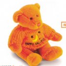 Russ Berrie Plush Halloween Sweater Teddy Bear - Spookly Orange FREE USA SHIPPING!