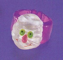 Russ Berrie Halloween Happy Hauntings Ring - Ghost  FREE USA SHIPPING!