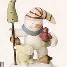 Russ Peace in the Meadow Medium Figurine - Snowman with Bird - FREE USA SHIPPING!!! 32334