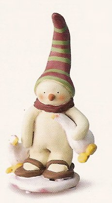 Russ Peace in the Meadow Medium Figurine - Snowman with Goose - FREE USA SHIPPING!!! 32335
