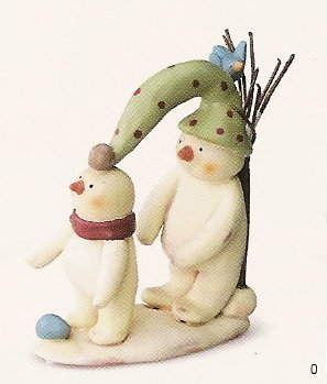 Peace in the Meadow Medium Figurine - Playing Snowmen - FREE USA SHIPPING!! 32336