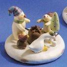 Russ Peace in the Meadow Snow Scenes Figurine Snowman & Ducks FREE USA SHIPPING!!!