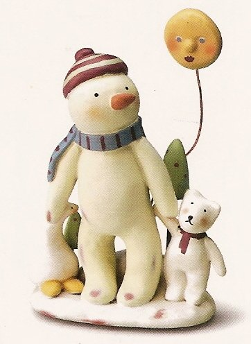 Russ Peace in the Meadow Large Figurine - Snowman with Sun - FREE USA SHIPPING!!!