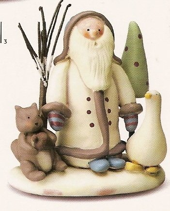 Russ Peace in the Meadow Large Figurine - Santa with Animals - FREE USA SHIPPING!!!