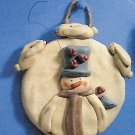 Russ Peace in the Meadow Round Wall Plaque - Snowman with Bunnies FREE USA SHIPPING!!