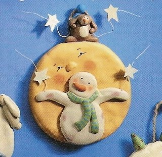 Russ Peace in the Meadow Round Wall Plaque - Snowman on Sun FREE USA SHIPPING!!!