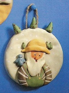 Russ Peace in the Meadow  Round Wall Plaque - Santa with Trees - FREE USA SHIPPING!
