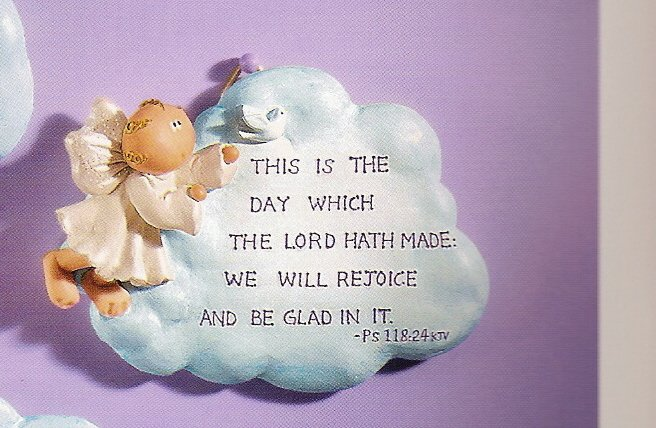 Russ Angel Cheeks Cloud Plaque - This is the Day The Lord Has Made - FREE USA SHIPPING!!!