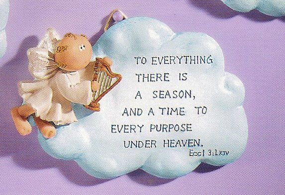 Russ Angel Cheeks Cloud Plaque - To Everything There is a Season - SOLD OUT!!!