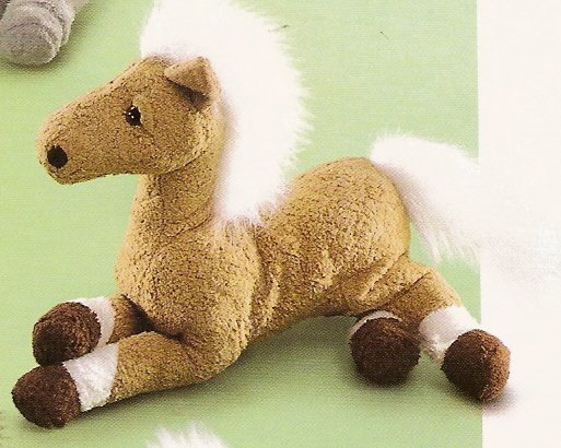 Russ Berrie Barn Mates Plush Horse - Small Tan with White Mane FREE USA SHIPPING!